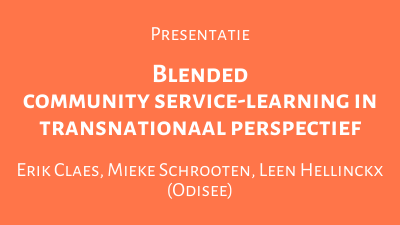 Blended community service-learning in transnationaal perspectief